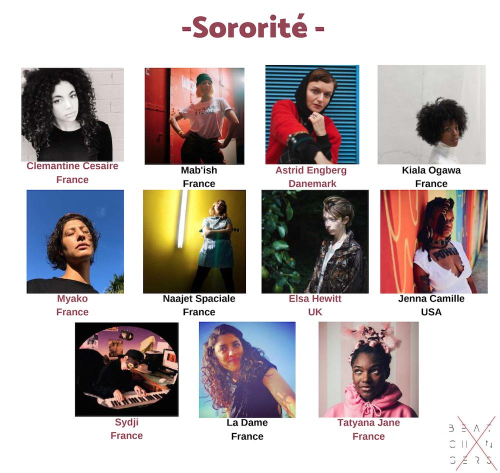 Artistes Compilation Sororité Beat X Changers