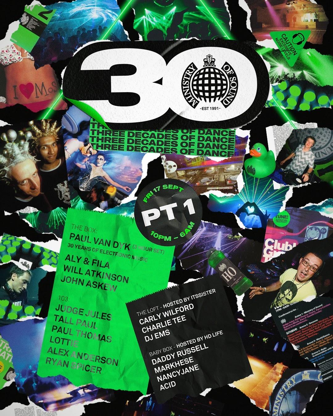 Ministry of Sound fête ses 30 ans