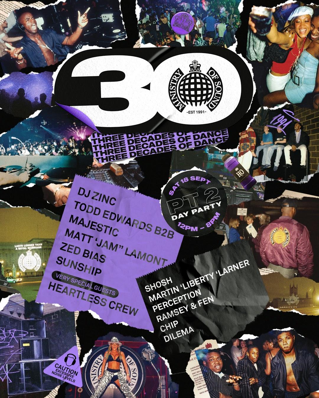 Londres fête anniversaire Minsitry of Sound week end 17 au 19 septembre