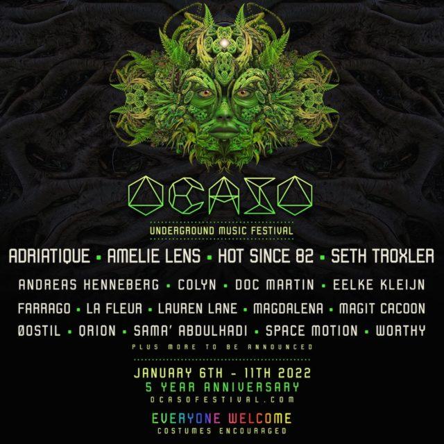 Ocaso Festival édition anniversaire du 6 au 11 janvier au Costa Rica