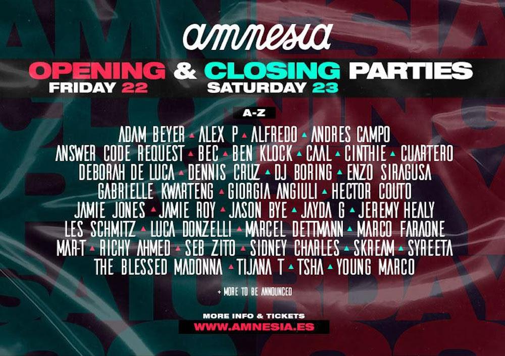 Read more about the article Amnesia Ibiza annonce les soirées d'ouverture et de clôture de la saison 2021